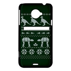 Holiday Party Attire Ugly Christmas Green Background HTC Evo 4G LTE Hardshell Case