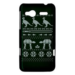Holiday Party Attire Ugly Christmas Green Background HTC Radar Hardshell Case