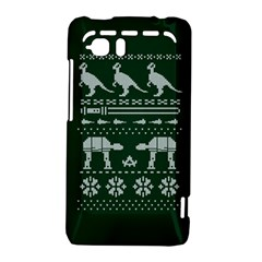 Holiday Party Attire Ugly Christmas Green Background HTC Vivid / Raider 4G Hardshell Case