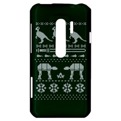Holiday Party Attire Ugly Christmas Green Background HTC Evo 3D Hardshell Case