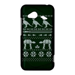 Holiday Party Attire Ugly Christmas Green Background HTC Droid Incredible 4G LTE Hardshell Case