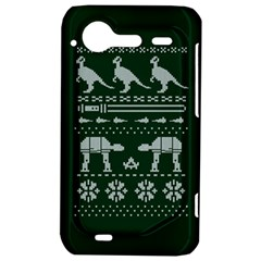 Holiday Party Attire Ugly Christmas Green Background HTC Incredible S Hardshell Case
