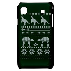 Holiday Party Attire Ugly Christmas Green Background Samsung Galaxy S i9000 Hardshell Case