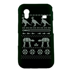 Holiday Party Attire Ugly Christmas Green Background Samsung Galaxy Ace S5830 Hardshell Case
