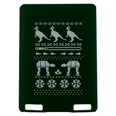 Holiday Party Attire Ugly Christmas Green Background Kindle Touch 3G