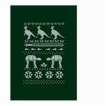 Holiday Party Attire Ugly Christmas Green Background Large Garden Flag (Two Sides) Back