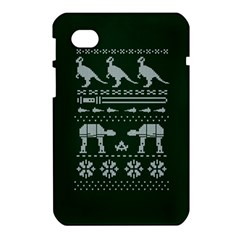 Holiday Party Attire Ugly Christmas Green Background Samsung Galaxy Tab 7  P1000 Hardshell Case