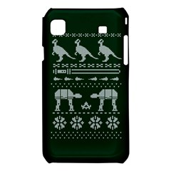 Holiday Party Attire Ugly Christmas Green Background Samsung Galaxy S i9008 Hardshell Case