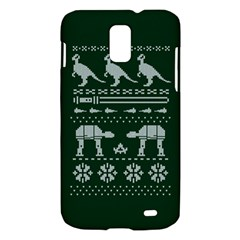 Holiday Party Attire Ugly Christmas Green Background Samsung Galaxy S II Skyrocket Hardshell Case