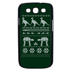 Holiday Party Attire Ugly Christmas Green Background Samsung Galaxy S III Case (Black)