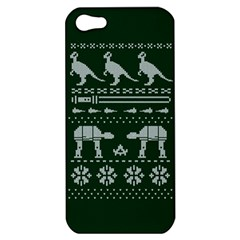 Holiday Party Attire Ugly Christmas Green Background Apple iPhone 5 Hardshell Case