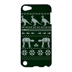 Holiday Party Attire Ugly Christmas Green Background Apple iPod Touch 5 Hardshell Case