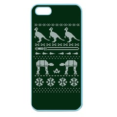 Holiday Party Attire Ugly Christmas Green Background Apple Seamless iPhone 5 Case (Color)