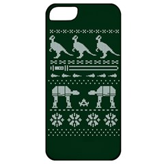 Holiday Party Attire Ugly Christmas Green Background Apple iPhone 5 Classic Hardshell Case