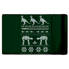Holiday Party Attire Ugly Christmas Green Background Apple iPad 3/4 Flip Case