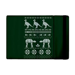 Holiday Party Attire Ugly Christmas Green Background Apple iPad Mini Flip Case