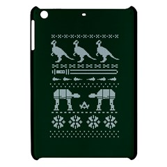 Holiday Party Attire Ugly Christmas Green Background Apple iPad Mini Hardshell Case