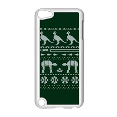 Holiday Party Attire Ugly Christmas Green Background Apple iPod Touch 5 Case (White)