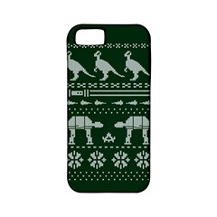 Holiday Party Attire Ugly Christmas Green Background Apple iPhone 5 Classic Hardshell Case (PC+Silicone)