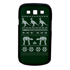Holiday Party Attire Ugly Christmas Green Background Samsung Galaxy S III Classic Hardshell Case (PC+Silicone)