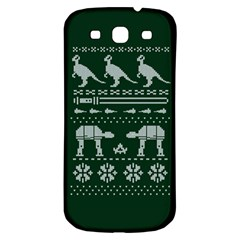 Holiday Party Attire Ugly Christmas Green Background Samsung Galaxy S3 S III Classic Hardshell Back Case