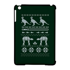Holiday Party Attire Ugly Christmas Green Background Apple iPad Mini Hardshell Case (Compatible with Smart Cover)