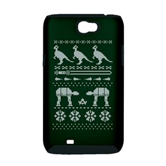 Holiday Party Attire Ugly Christmas Green Background Samsung Galaxy Note 2 Hardshell Case (PC+Silicone)