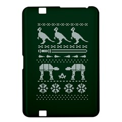 Holiday Party Attire Ugly Christmas Green Background Kindle Fire HD 8.9