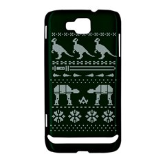 Holiday Party Attire Ugly Christmas Green Background Samsung Ativ S i8750 Hardshell Case