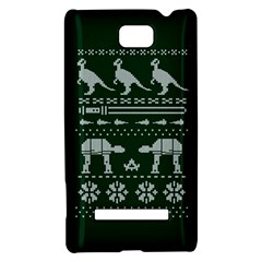 Holiday Party Attire Ugly Christmas Green Background HTC 8S Hardshell Case
