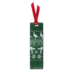 Holiday Party Attire Ugly Christmas Green Background Small Book Marks