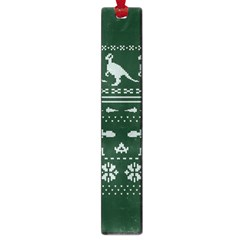 Holiday Party Attire Ugly Christmas Green Background Large Book Marks