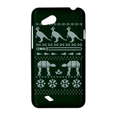 Holiday Party Attire Ugly Christmas Green Background HTC Desire VC (T328D) Hardshell Case