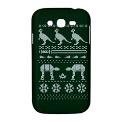 Holiday Party Attire Ugly Christmas Green Background Samsung Galaxy Grand DUOS I9082 Hardshell Case