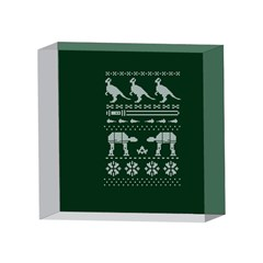Holiday Party Attire Ugly Christmas Green Background 4 x 4  Acrylic Photo Blocks
