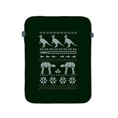 Holiday Party Attire Ugly Christmas Green Background Apple iPad 2/3/4 Protective Soft Cases