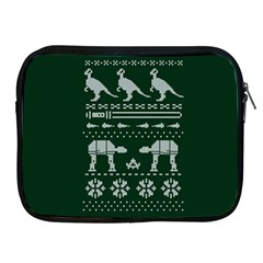 Holiday Party Attire Ugly Christmas Green Background Apple iPad 2/3/4 Zipper Cases