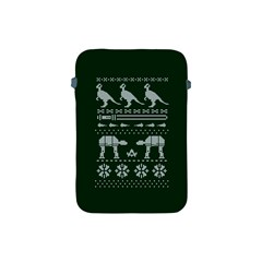 Holiday Party Attire Ugly Christmas Green Background Apple iPad Mini Protective Soft Cases