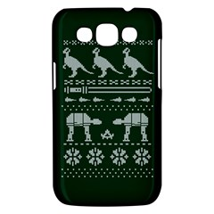 Holiday Party Attire Ugly Christmas Green Background Samsung Galaxy Win I8550 Hardshell Case