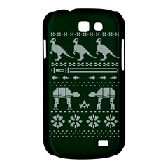 Holiday Party Attire Ugly Christmas Green Background Samsung Galaxy Express I8730 Hardshell Case