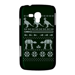 Holiday Party Attire Ugly Christmas Green Background Samsung Galaxy Duos I8262 Hardshell Case