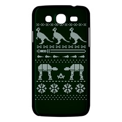 Holiday Party Attire Ugly Christmas Green Background Samsung Galaxy Mega 5.8 I9152 Hardshell Case