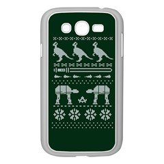 Holiday Party Attire Ugly Christmas Green Background Samsung Galaxy Grand DUOS I9082 Case (White)