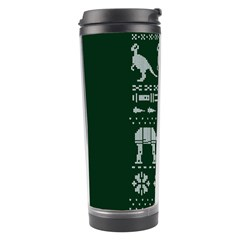Holiday Party Attire Ugly Christmas Green Background Travel Tumbler