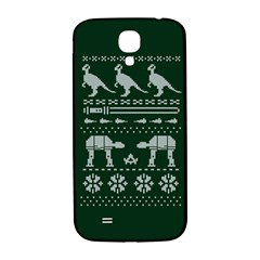 Holiday Party Attire Ugly Christmas Green Background Samsung Galaxy S4 I9500/I9505  Hardshell Back Case