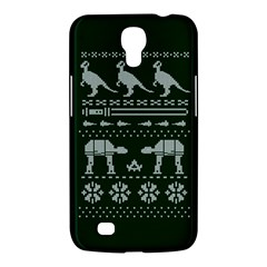 Holiday Party Attire Ugly Christmas Green Background Samsung Galaxy Mega 6.3  I9200 Hardshell Case