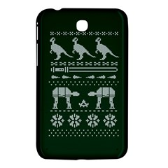 Holiday Party Attire Ugly Christmas Green Background Samsung Galaxy Tab 3 (7 ) P3200 Hardshell Case