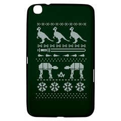 Holiday Party Attire Ugly Christmas Green Background Samsung Galaxy Tab 3 (8 ) T3100 Hardshell Case