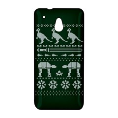Holiday Party Attire Ugly Christmas Green Background HTC One Mini (601e) M4 Hardshell Case