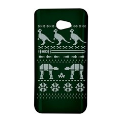 Holiday Party Attire Ugly Christmas Green Background HTC Butterfly S/HTC 9060 Hardshell Case
